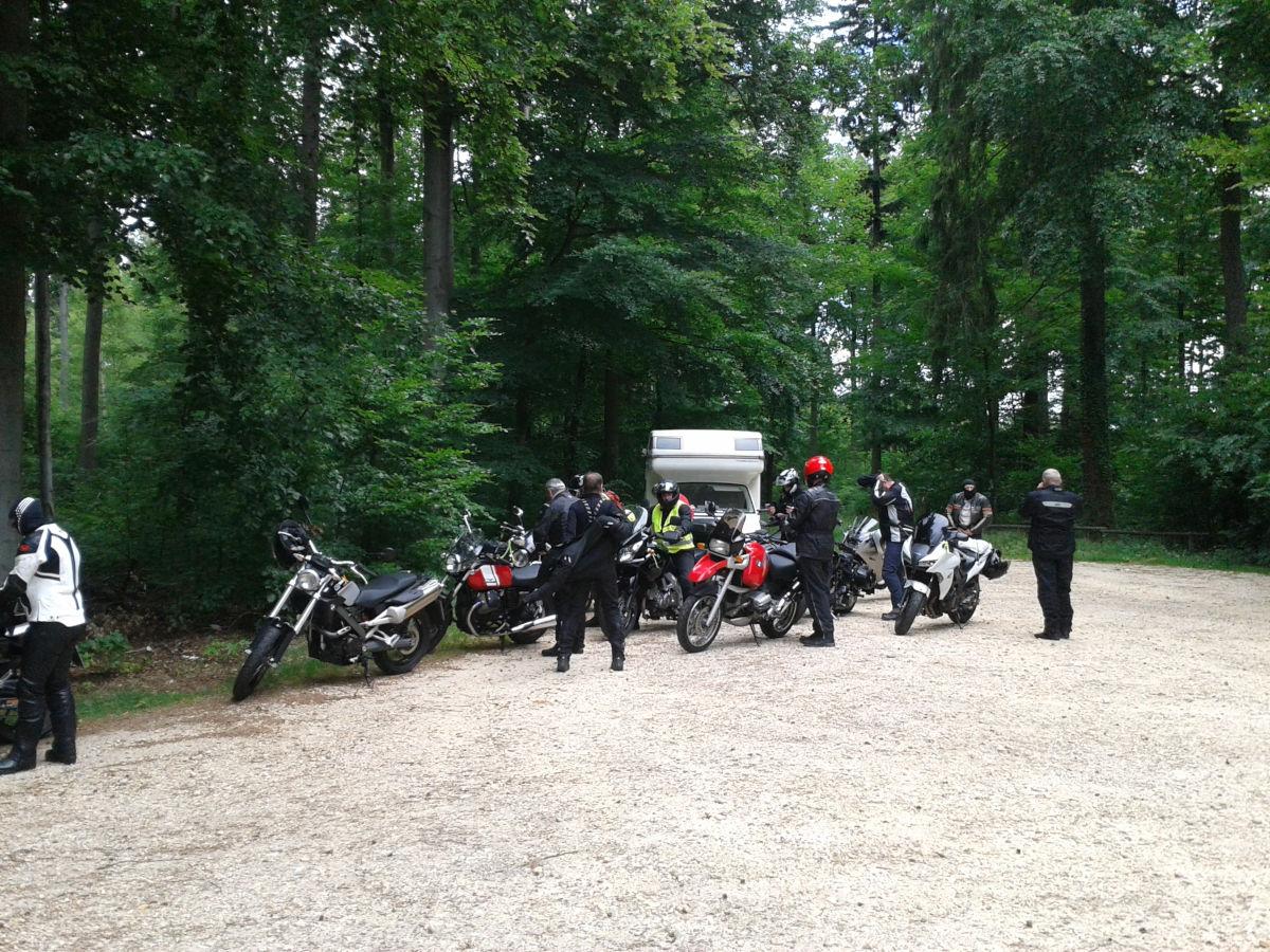 Motorradtour mit ehemaligen Schülern